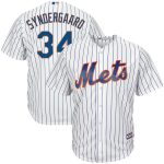 Majestic Noah Syndergaard New York Mets White/Royal Home Big & Tall Cool Base Player Jersey