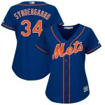 Majestic Noah Syndergaard New York Mets Women's Royal Plus Size Alternate Cool Base Player Jersey