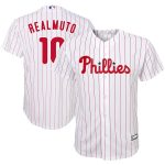 JT Realmuto Philadelphia Phillies Youth White/Scarlet Home Replica Player Jersey