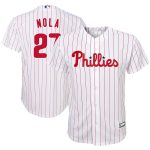 Aaron Nola Philadelphia Phillies Youth White/Scarlet Home Replica Player Jersey