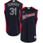 Majestic Max Scherzer National League Navy 2019 MLB All-Star Game Workout Player Jersey