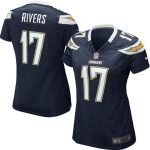 Nike Philip Rivers Los Angeles Chargers Girls Youth Navy Blue Replica Game Jersey