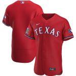 Nike Texas Rangers Scarlet Alternate 2020 Authentic Team Jersey