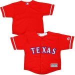 Majestic Texas Rangers Infant Red Official Cool Base Jersey
