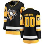 Fanatics Branded Pittsburgh Penguins Women's Black Home Breakaway Custom Jersey