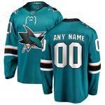 Fanatics Branded San Jose Sharks Teal Home Breakaway Custom Jersey
