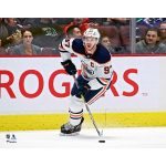 Fanatics Authentic Connor McDavid Edmonton Oilers Unsigned White Jersey Skating Photograph