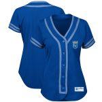 Majestic Kansas City Royals Women's Royal/Light Blue Absolute Victory Fashion Team Jersey