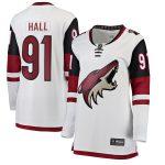 Fanatics Branded Taylor Hall Arizona Coyotes Women's White Away Breakaway Player Jersey