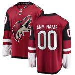 Fanatics Branded Arizona Coyotes Red Home Breakaway Custom Jersey