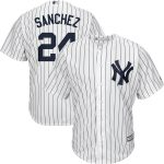Majestic Gary Sanchez New York Yankees White/Navy Big & Tall Home Cool Base Player Jersey