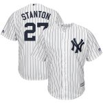 Majestic Giancarlo Stanton New York Yankees White/Navy Home Big & Tall Cool Base Player Jersey