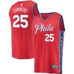 Fanatics Branded Ben Simmons Philadelphia 76ers Youth Red Fast Break Replica Player Team Jersey - Statement Edition