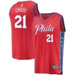 Fanatics Branded Joel Embiid Philadelphia 76ers Youth Red Fast Break Replica Player Team Jersey - Statement Edition