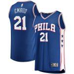 Fanatics Branded Joel Embiid Philadelphia 76ers Youth Royal 2019/20 Fast Break Replica Jersey - Icon Edition