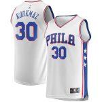 Fanatics Branded Furkan Korkmaz Philadelphia 76ers White Fast Break Player Jersey - Association Edition
