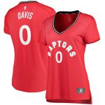 Fanatics Branded Terence Davis Toronto Raptors Women's Red Fast Break Player Jersey - Icon Edition
