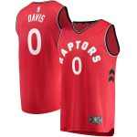 Fanatics Branded Terence Davis Toronto Raptors Red Fast Break Player Jersey - Icon Edition