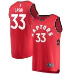 Fanatics Branded Marc Gasol Toronto Raptors Youth Red Fast Break Replica Jersey - Icon Edition