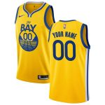 Nike Golden State Warriors Yellow 2019/20 Custom Swingman Jersey - Statement Edition