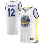 Golden State Warriors Ky Bowman Fanatics Branded White Fast Break Player Jersey - Association Edition