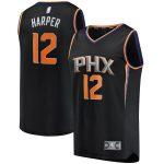 Fanatics Branded Jared Harper Phoenix Suns Black Fast Break Player Jersey - Statement Edition