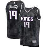 Fanatics Branded DaQuan Jeffries Sacramento Kings Black Fast Break Player Jersey - Statement Edition