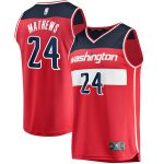 Fanatics Branded Garrison Mathews Washington Wizards Youth Red Fast Break Player Jersey - Icon Edition