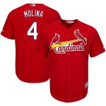 Yadier Molina St. Louis Cardinals Majestic Big & Tall Alternate Cool Base Player Jersey - Red