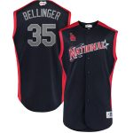 Majestic Cody Bellinger National League Navy 2019 MLB All-Star Game Workout Player Jersey