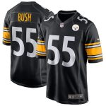 Devin Bush Pittsburgh Steelers Nike Game Jersey - Black