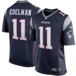Nike Julian Edelman New England Patriots Youth Navy Blue Team Color Game Jersey