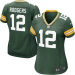 Nike Aaron Rodgers Green Bay Packers Women's Green Game Jersey