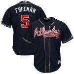 Majestic Freddie Freeman Atlanta Braves Navy Big & Tall Alternate Cool Base Replica Player Jersey
