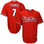 Majestic Maikel Franco Philadelphia Phillies Scarlet Big & Tall Fashion Cool Base Replica Player Jersey