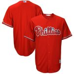 Majestic Philadelphia Phillies Scarlet Big & Tall Fashion Cool Base Replica Team Jersey