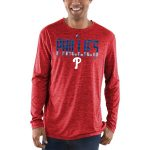 Majestic Philadelphia Phillies Red Unstoppable Force Long Sleeve Cool Base T-Shirt