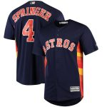 Majestic Houston Astros George Springer Navy Official Cool Base Player Jersey