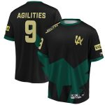 INTO THE AM Agilities Los Angeles Valiant Black/Green 2019 Overwatch League Limited Edition Authentic Third Jersey