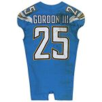 Fanatics Authentic Melvin Gordon III Los Angeles Chargers Game-Used #25 Blue Jersey vs. Oakland Raiders on November 7, 2019 - 22 Car, 108 Yds, TD