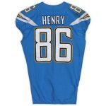 Fanatics Authentic Hunter Henry Los Angeles Chargers Game-Used #86 Blue Jersey vs. Oakland Raiders on November 7, 2019 - 4 Rec, 30 Yds, TD