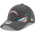 New Era Los Angeles Chargers Heather Gray 2019 NFL Crucial Catch 39THIRTY Flex Hat