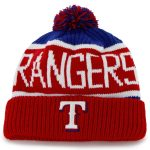 '47 Texas Rangers Red Calgary Cuffed Knit Hat with Pom