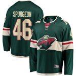 Fanatics Branded Jared Spurgeon Minnesota Wild Youth Green Breakaway Player Jersey