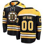 Fanatics Branded Boston Bruins Black Home Breakaway Custom Jersey
