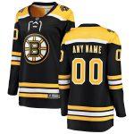 Fanatics Branded Boston Bruins Women's Black Home Breakaway Custom Jersey
