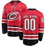 Fanatics Branded Carolina Hurricanes Red Home Breakaway Custom Jersey