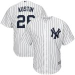 Majestic Tyler Austin New York Yankees White/Navy Home Official Cool Base Player Jersey