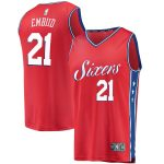 Fanatics Branded Joel Embiid Philadelphia 76ers Red Fast Break Replica Jersey - Statement Edition