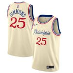 Nike Ben Simmons Philadelphia 76ers Cream 2019/20 Finished Swingman Jersey - City Edition